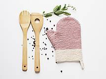 Úžitkový textil - Kuchynská rukavica - ružová - 10799296_