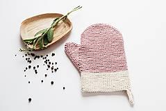 Úžitkový textil - Kuchynská rukavica - ružová - 10799297_
