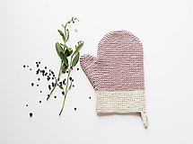 Úžitkový textil - Kuchynská rukavica - ružová - 10799298_