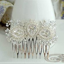 Ozdoby do vlasov - Amazing diamond Hrebienok Ag925 - 10798693_