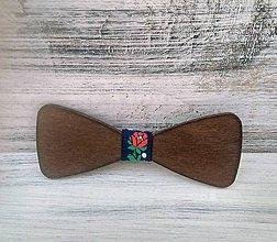 """Doplnky - Drevený motýlik """"Folklór"""" (pánsky) - 10798627_"""