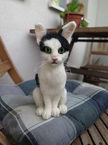 Dekorácie - plstená mačka - 10799259_