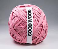 Materiál ručne robený - Tričkovlna GOOD WOOL... Tmavšia ružová - 10798008_