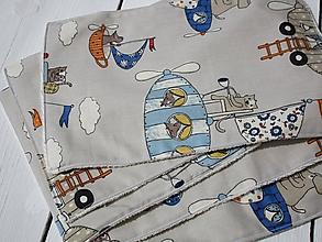 Textil - cestovné detské bezodpadové utierky-myška - 10797625_