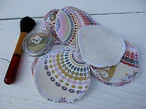 Úžitkový textil - odličovacie tampóny-mandala - 10798665_