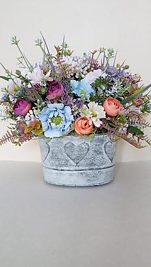 Dekorácie - Darcekova dekoracia s lucnymi kvetmi - 10797504_