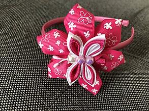 Ozdoby do vlasov - Čelenka motýlik (Ružová) - 10797267_