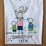 Oblečenie - Originálne maľované tričko pre TATIKA/OCKA so 4 postavičkami (XL) - 10798081_