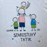 Oblečenie - Originálne maľované tričko pre TATIKA/OCKA so 4 postavičkami (XL) - 10798082_