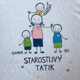 Oblečenie - Originálne maľované tričko pre TATIKA/OCKA so 4 postavičkami (XL) - 10798083_