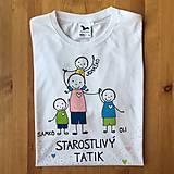 Oblečenie - Originálne maľované tričko pre TATIKA/OCKA so 4 postavičkami (XL) - 10798085_