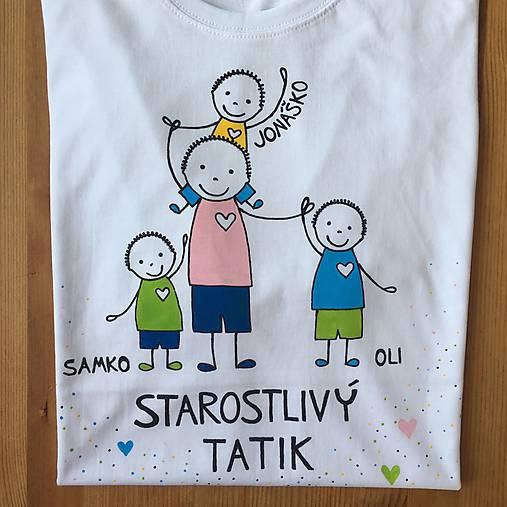 Originálne maľované tričko pre TATIKA/OCKA so 4 postavičkami (XL)