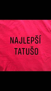 Oblečenie - Maľované červené pánske tričko s nápisom