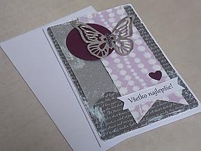 Papiernictvo - ...pohľadnica narodeninová s motýľom... - 10797330_