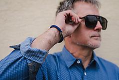 Šperky - SNAKE For Him - elegantný pánsky náramok, modrý - 10798164_