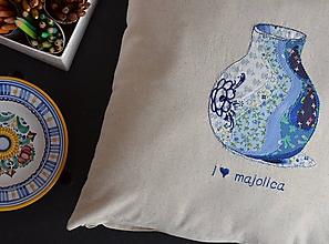Úžitkový textil - Vankúš Majolica - 10798329_