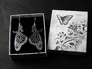 Náušnice - Vyliahnuté Motýle - 10797539_