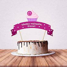 Dekorácie - Zápich na tortu - cupcake - 10797196_