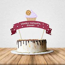 Dekorácie - Zápich na tortu - cupcake (s cookie) - 10797198_