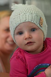 Detské čiapky - Detská čiapka ORGANIC MERINO: mentolová - 10799915_