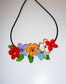 Náhrdelníky - lel,folk kvetinový náhrdelník - 10799838_