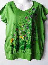 Tričká - Na letnej lúke - dámske tričko ručne maľované - 10800614_