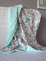 Textil - Minky deka jednorožec - 10801042_