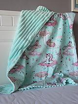 Textil - Minky deka unicorn - 10801066_