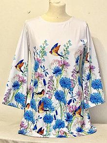 Tuniky - Dámská Tunika s modrymi květy - 10800117_