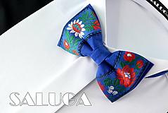 Pánsky folklórny motýlik - modrý
