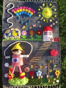 Úžitkový textil - Senzorický koberček POĎME SA HRAŤ - 10800840_
