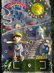 Úžitkový textil - Senzorický koberček POĎME SA HRAŤ 2 - 10800853_