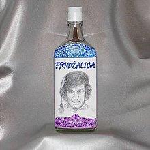 Iné - Ručne maľovaná darčeková fľaša Frndžalica - 10800539_