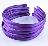 Komponenty - CE102 Čelenka saténová  (Tmavo fialová) - 10801020_