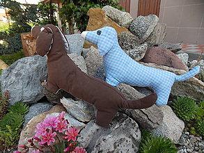 Hračky - Šitý psík jazvečík (Hnedá) - 10801170_