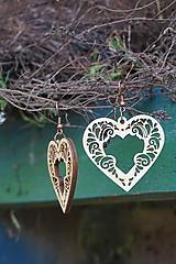 Náušnice - Náušnice - Srdce ornament - 10800959_