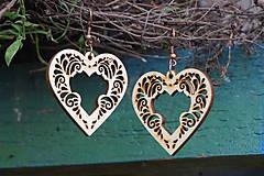 Náušnice - Náušnice - Srdce ornament - 10800962_