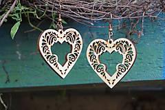 Náušnice - Náušnice - Srdce ornament - 10800963_