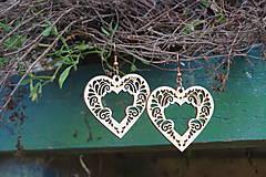 Náušnice - Náušnice - Srdce ornament - 10800964_