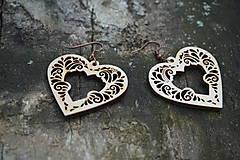 Náušnice - Náušnice - Srdce ornament - 10800965_