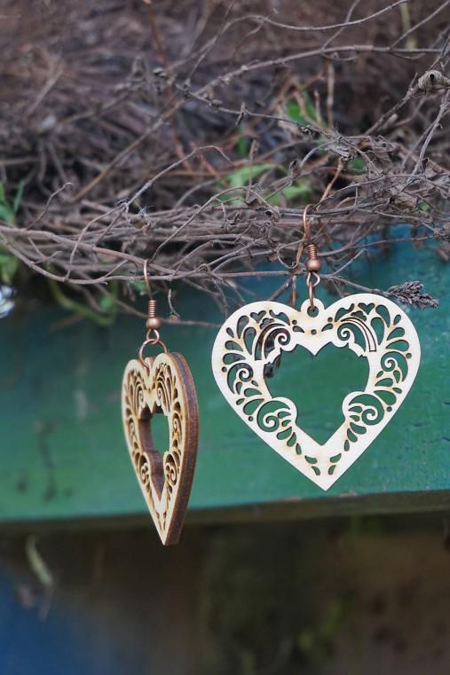 Náušnice - Srdce ornament