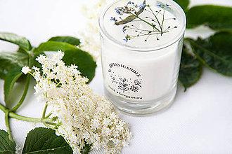 Svietidlá a sviečky - Med • Bergamota, vonná sviečka zo sójového vosku - 10801060_