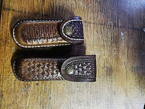 Iné doplnky - Kožené puzdro na zatvaraci nôž - 10800810_