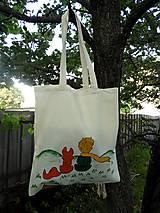 Nákupné tašky - Bavlnená taška - Malý princ - 10800755_