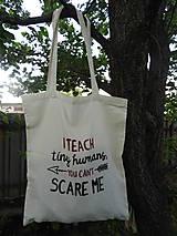 Nákupné tašky - Bavlnená taška - pre pani učiteľku - 10800765_