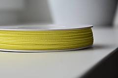 Galantéria - Šujtašova šnúrka žiarivá žltá 3mm, 0.22€/meter - 10799917_