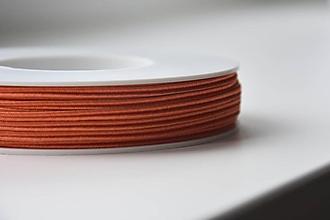 Galantéria - Šujtašova šnúrka tmavý losos 3mm, 0.25€/ks - 10799920_