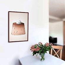 Grafika - Želatína - grafika (kúsky čokolády) - 10799741_