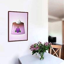 Grafika - Želatína - grafika (čučoriedkový) - 10799744_