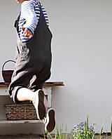 Nohavice - lněné/tmavěšedé - 10802091_